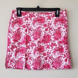 🔆Golftini Pink Floral Golf Skort